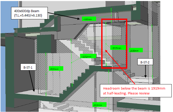 BIM - Staircase Headroom checking
