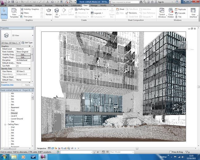scan data for BIM