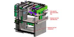 02 Mezz Floor Headroom Checking in 3D view