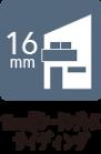 16mm厚シーリングレスサイディング外壁