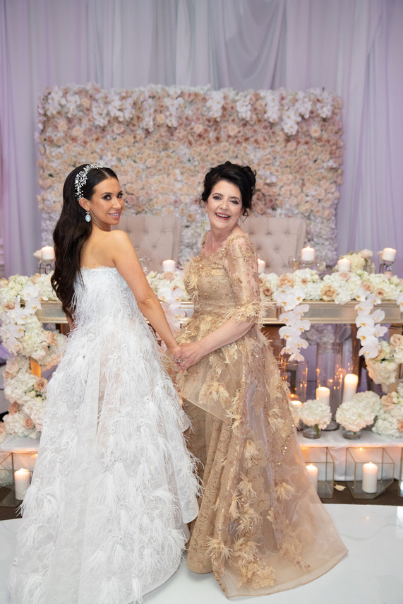 Custom Mother of the Bride & Wedding Dress