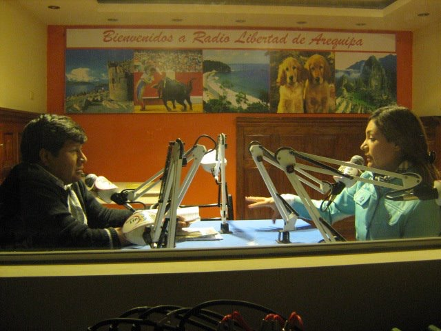 Radio interview - Libertad Aeriquipa Peru continued