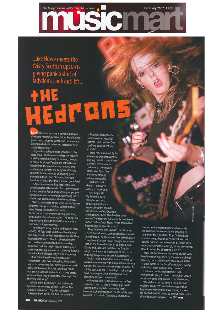 TheHedrons MusicMart Feature Feb2007