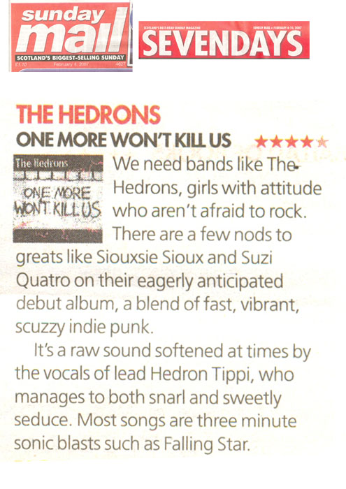 TheHedrons SunMail AlbumReview 04Feb2007
