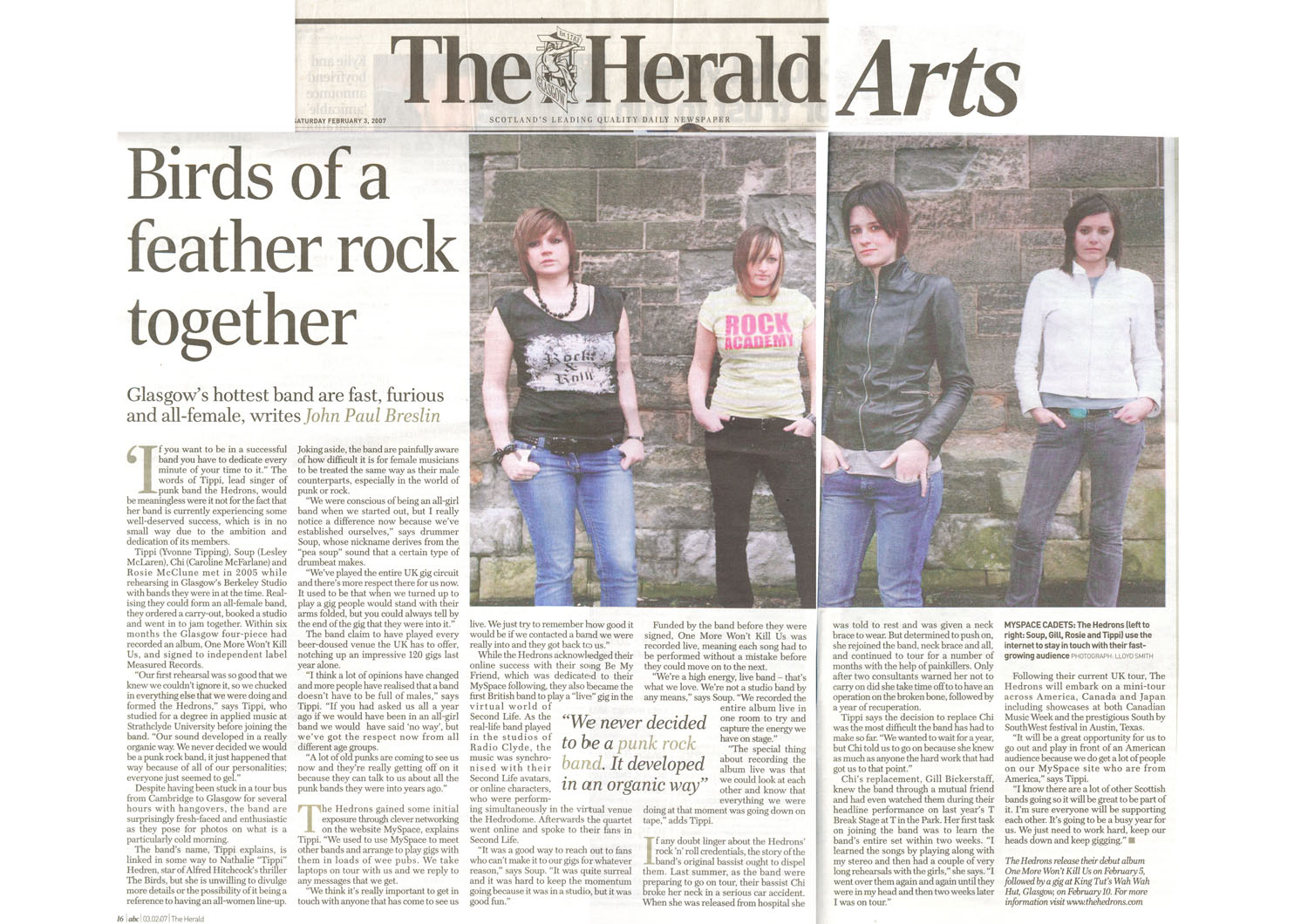 TheHedrons TheHerald 03Feb2007