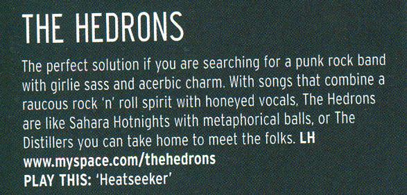 Hedrons Rocksound June06