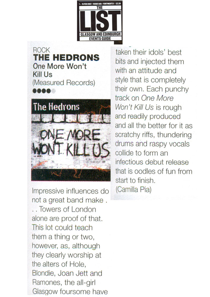 TheHedrons List 01Feb2007