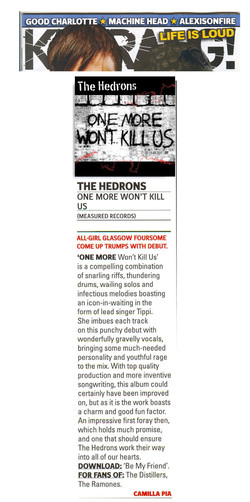 TheHedrons Kerrang Feb07