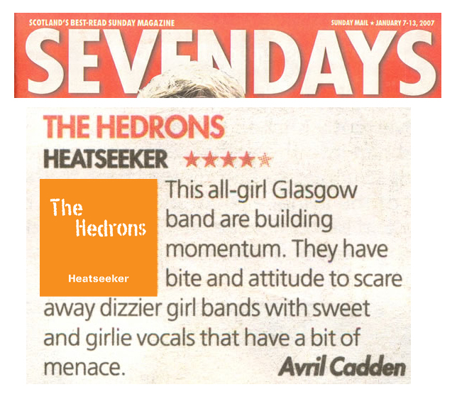 TheHedrons SundayMail Jan7th 2007