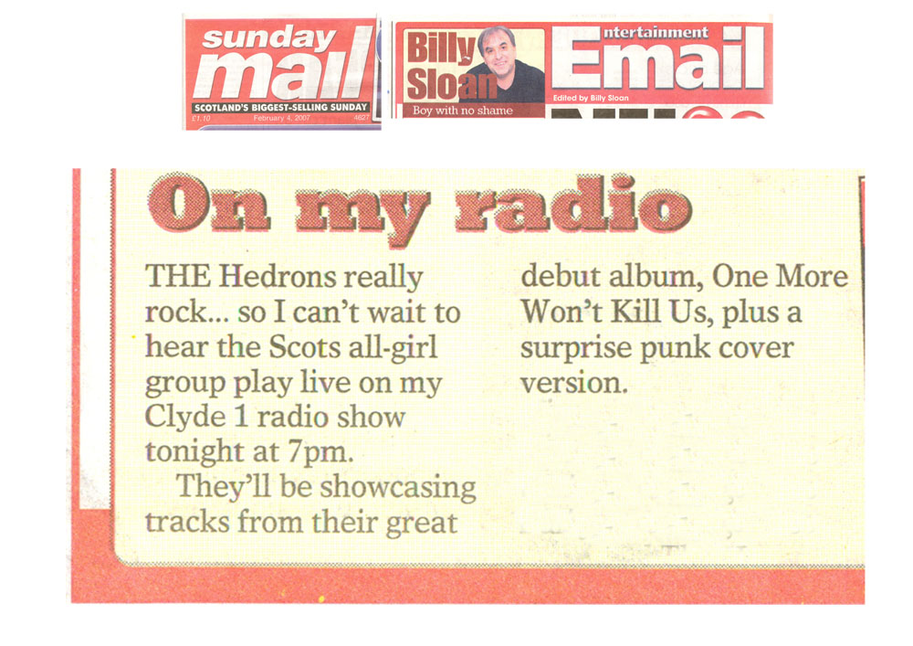 TheHedrons SunMail BillySloan 04Feb2007