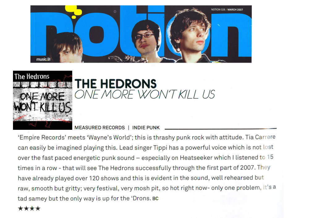 TheHedrons Notion March 2007