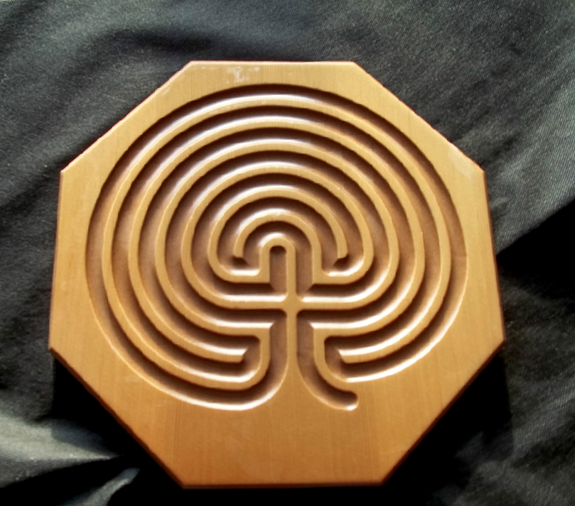 wood labyrinth