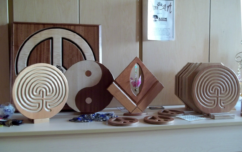 Wooden zen symbols