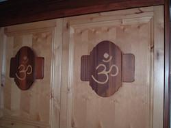 om symbol closet doors
