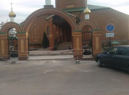 В храме села Александровка завершился ремонт арочного свода