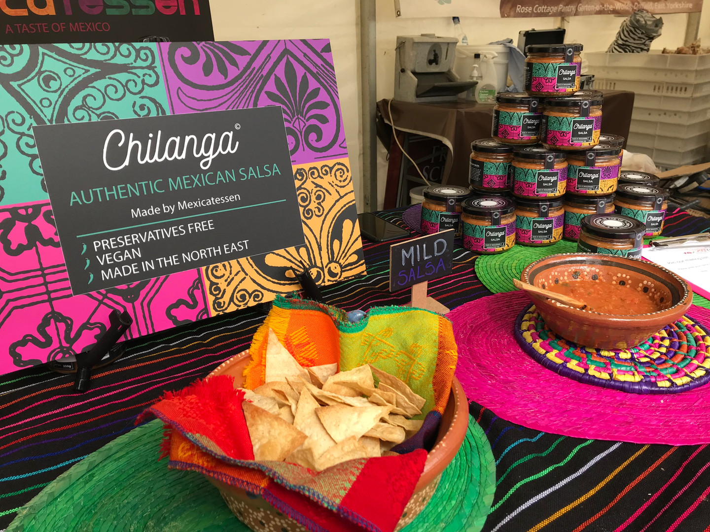 Chilanga and home made tortilla chips