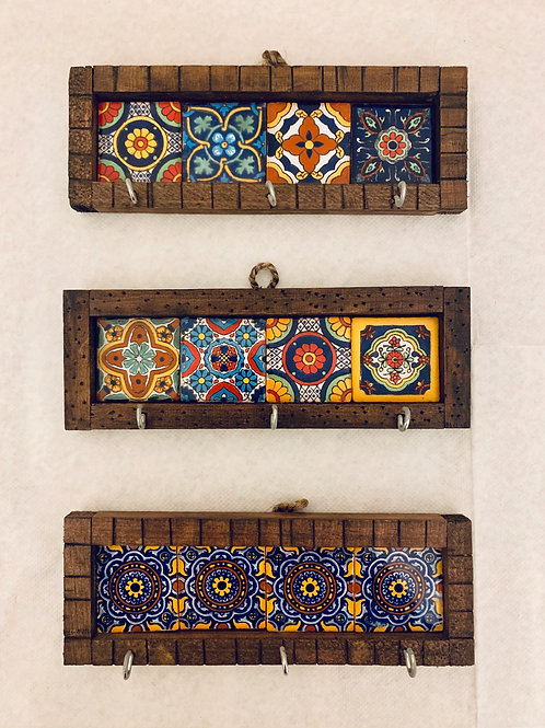 Mexican tiles wall key holder