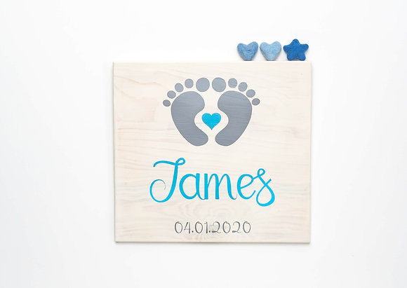 Reclaimed Wood Baby Sign