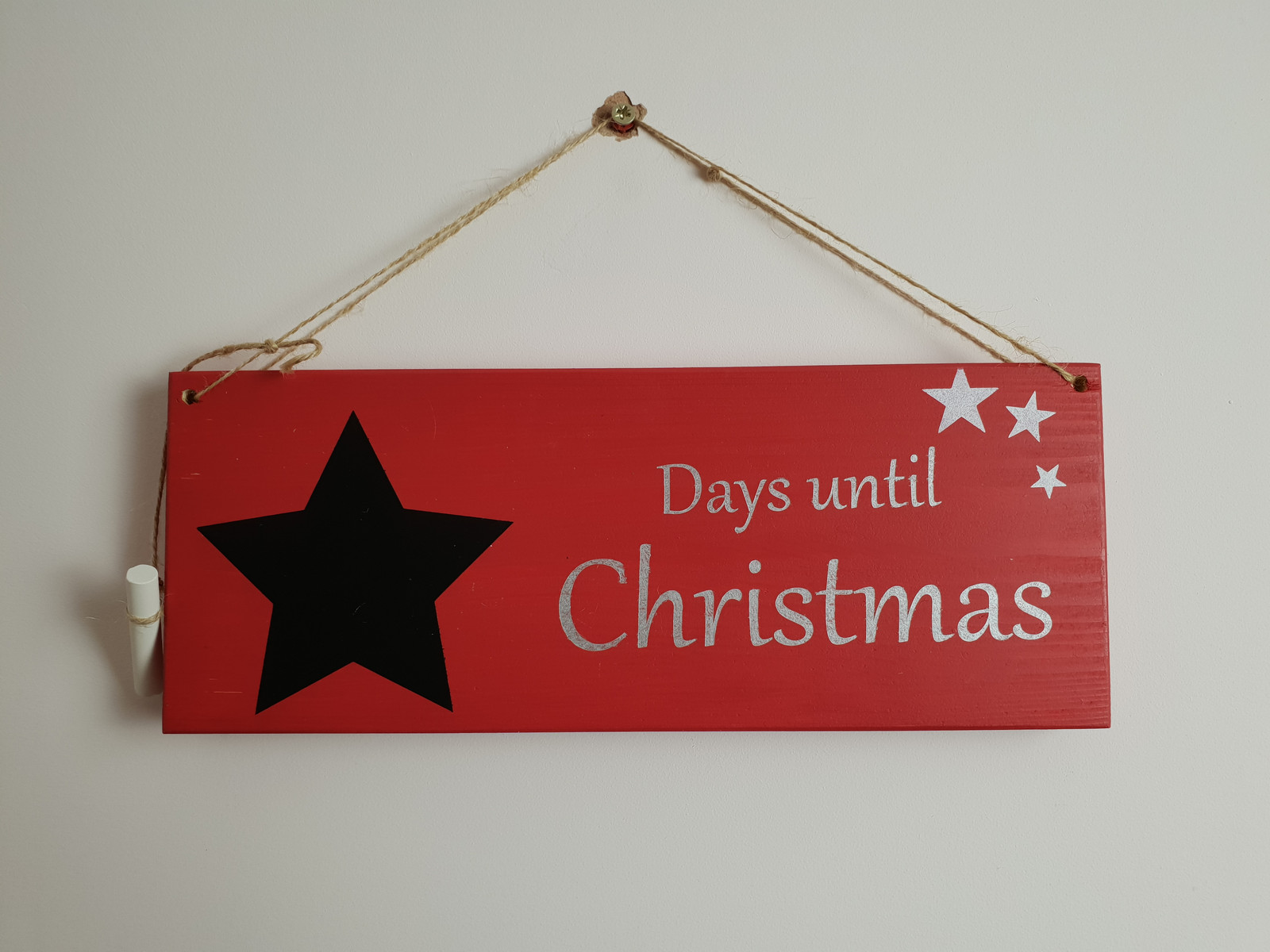 Days Until Christmas Countdown.Red Days Until Christmas Countdown Sign