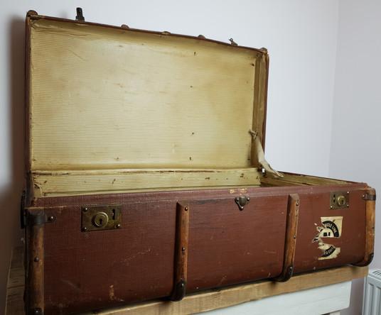 Large Original Vintage Trunk