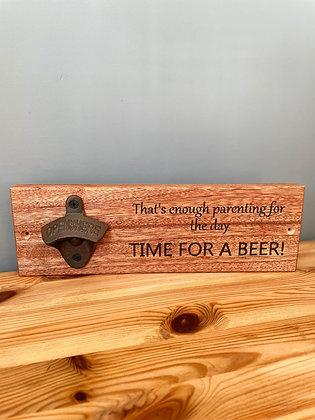 Wall Mounted Bottle Opener (Plaque Style)