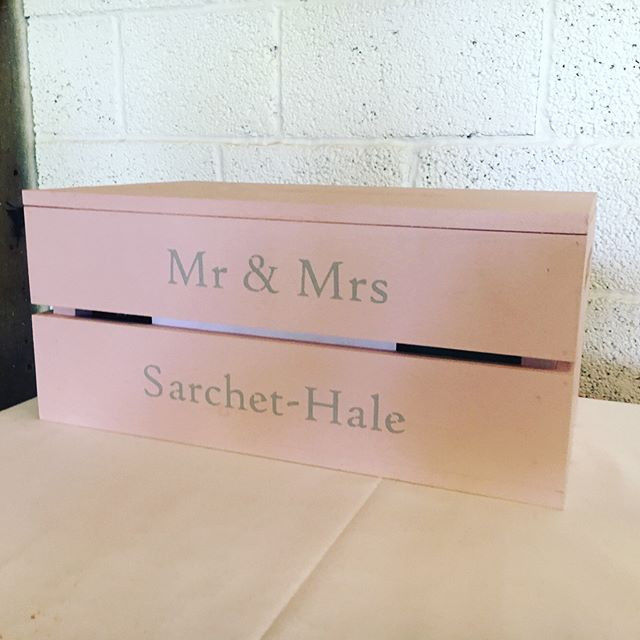 Pink and Silver Wedding Crate