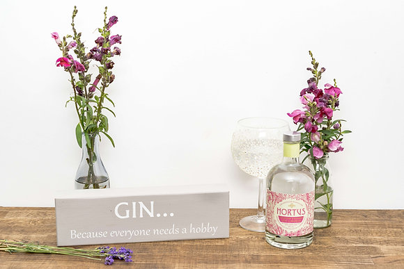Reclaimed Wood Gin Hobby Block