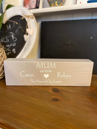 Personalised Mothers Day Block