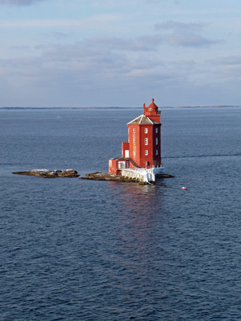 Leuchtturm Kjeungskjaer zwischen Trondheim und Rørvik
