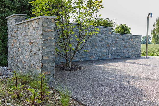 W. Stauufer AG - Sichtschutzmauer, Privat