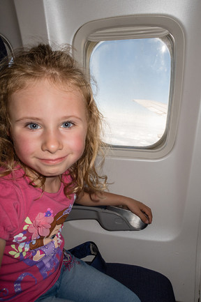 Das erste mal im Flugzeug