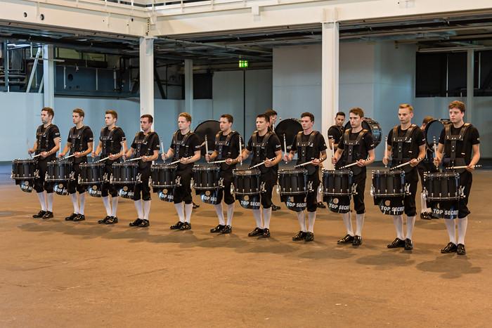 Top Secret Drum Corps - Volle Einsatz und Konzentration an der Hauptprobe