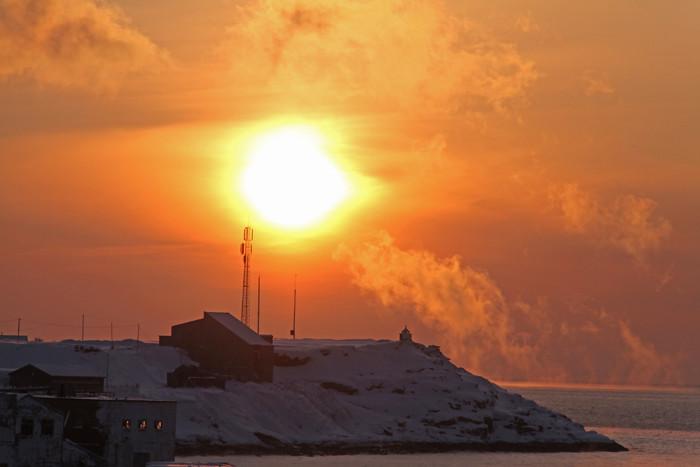 Sonnenaufgang bei Vadsø