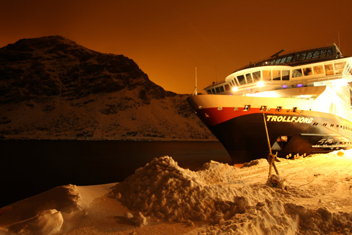 MS Trollfjord in Stamsund
