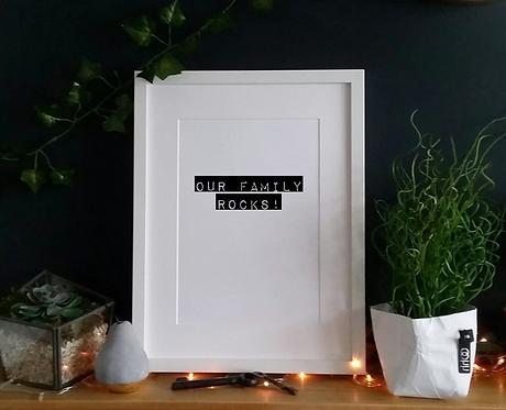 Our family rocks - Print