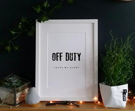 Off Duty ... - Print