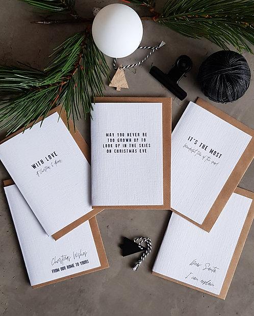 "Christmas Poonie Pack of ""Oh so nice"" -Pack of 5 Cards"