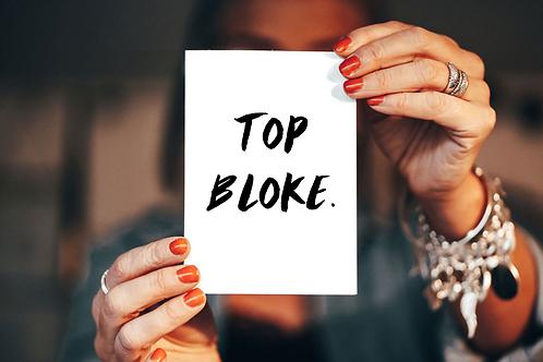 Top Bloke- card