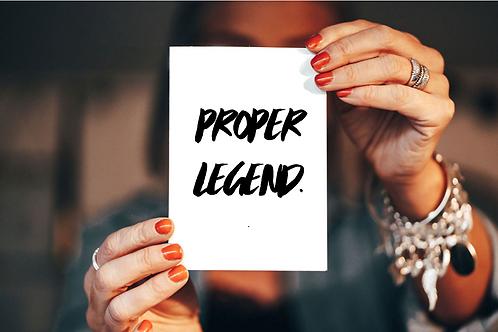 Proper Legend - Card