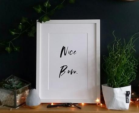 Nice Bum - Print