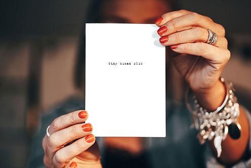 Tiny human club - card