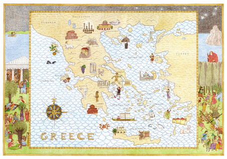 the map of greece
