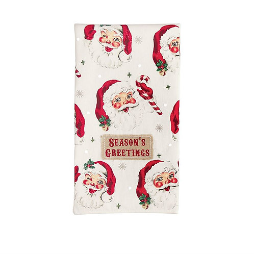 Season's Greetings Santa Sequin Hand Towel