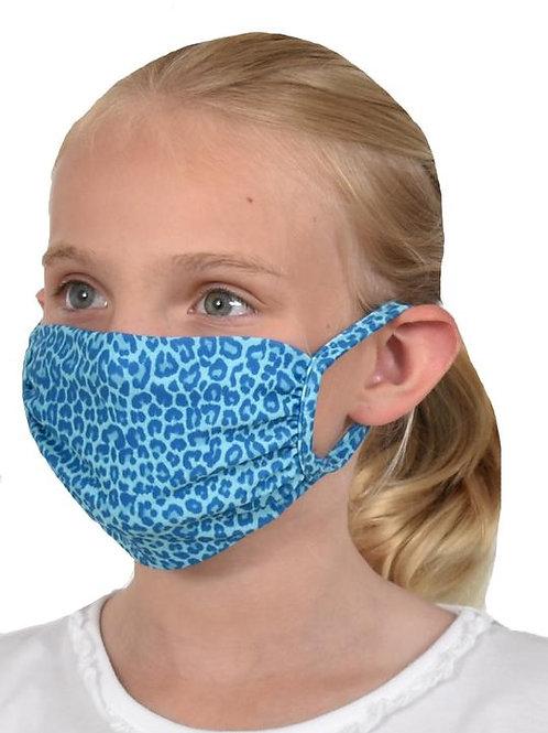 Southwind Apparel Blue Cheetah Kids Mask