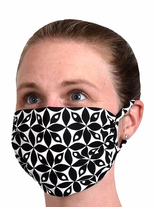 Southwind Apparel Black Petals Mask