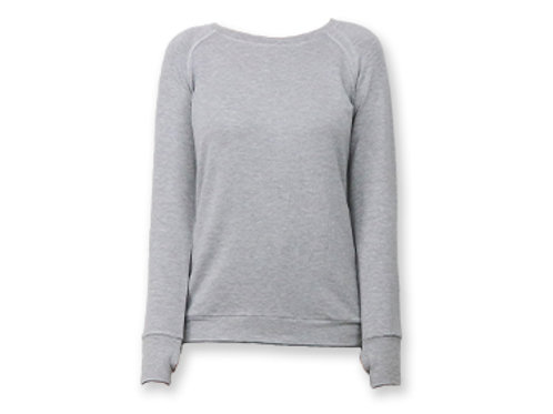 Hello Mellow Weekender Grey Long Sleeve Top
