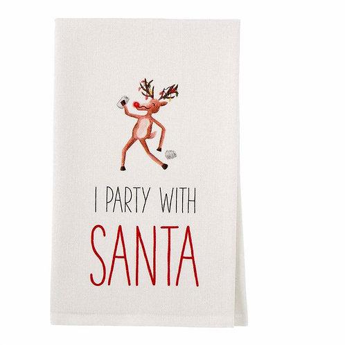 Drinking Rudolph Hand Towel
