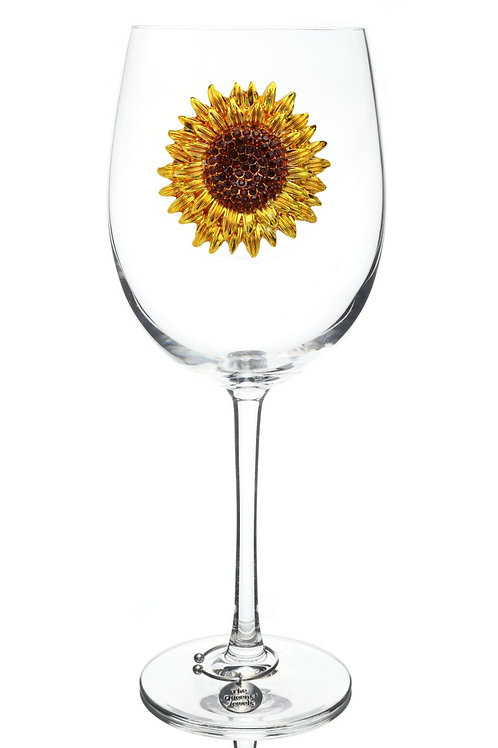 Queen's Jewels, Sunflower Stemmed Wine Glass