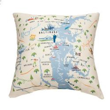 Chesapeake Bay Square Pillow