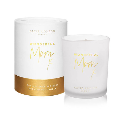 Katie Loxton, Wonderful Mom Boxed Candle